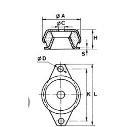 Poduszka kabiny 119x50mm