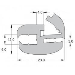 Window seal with wedge TB1