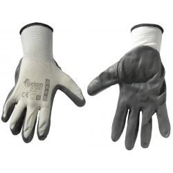 Rękawice ochronne Gekon - biało/szare