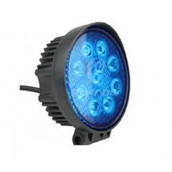Round halogen 27W - blue