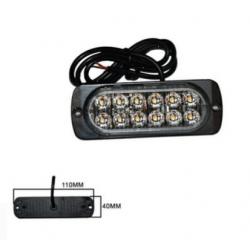 Halogen 12 LED flash - orange