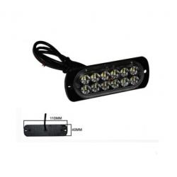 Halogen 12 LED flash - white