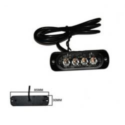 Halogen 4 LED flash - orange