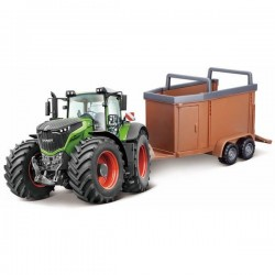 Model Fendt 1000 Vario with a cattle trailer
