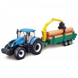 Model New Holland T7.315 with a log trailer