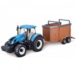 Model New Holland T7.315 with a cattle trailer