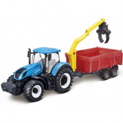 Model New Holland T7.315 with a self-loading trailer