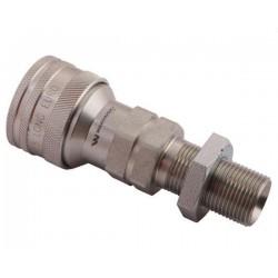 Hydraulic quick coupler socket ISO-A M20x1,5 long Warynski