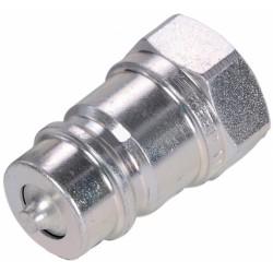 "Hydraulic quick coupler plug PUSH-PULL GAS 1/2"""