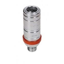 Hydraulic quick coupler socket PUSH-PULL M22x1,5 - under pressure