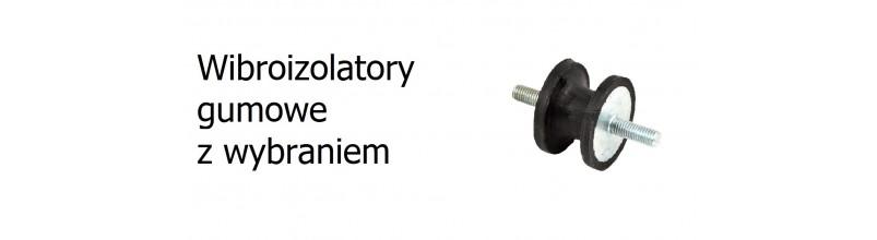Wibroizolatory gumowe z wybraniem